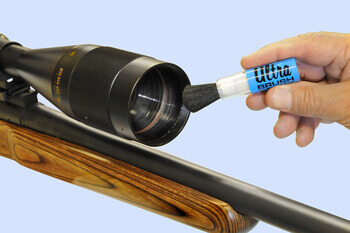 Cleaning a rifle scope