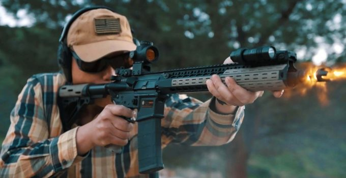 red dot mounted on an ar 15