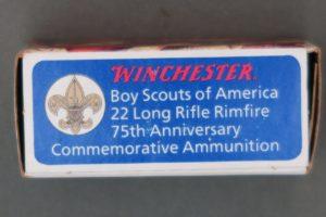 WINCHESTER BOY SCOUTS OF AMERICA 22 LR 75TH ANNIVERSARY COMMEMORATIVE AMMUNITION