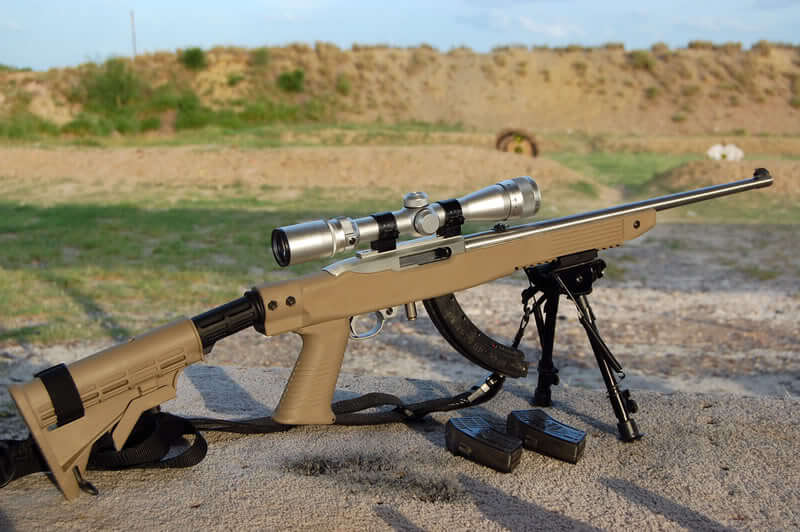 Ruger 10/22 with Simmmons Truplex mag22