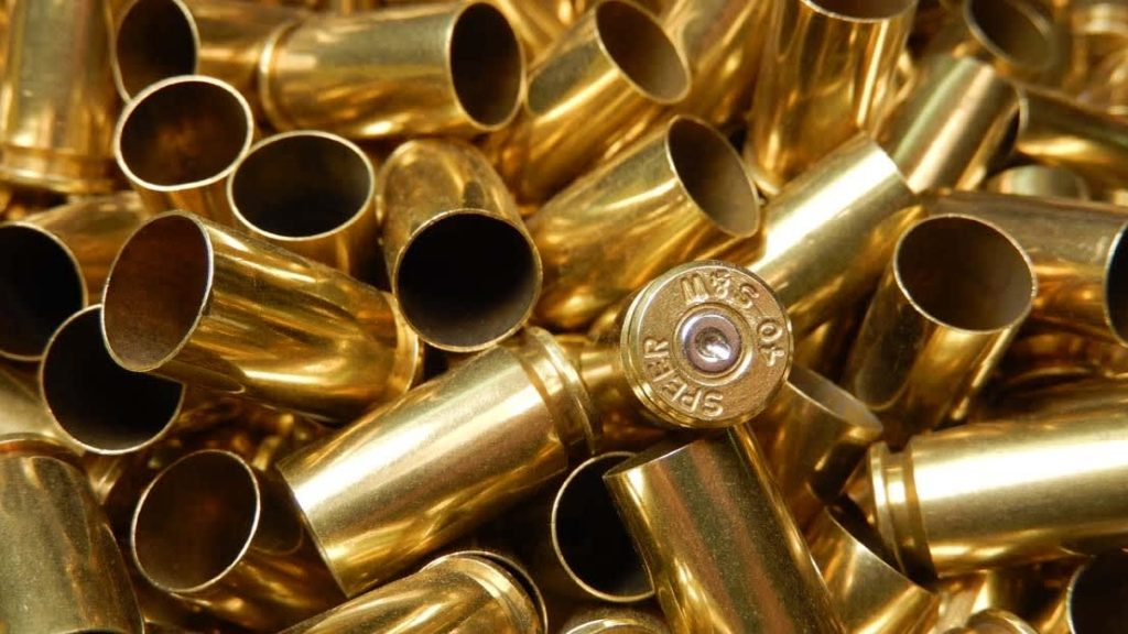 cleaned bullet brass casings