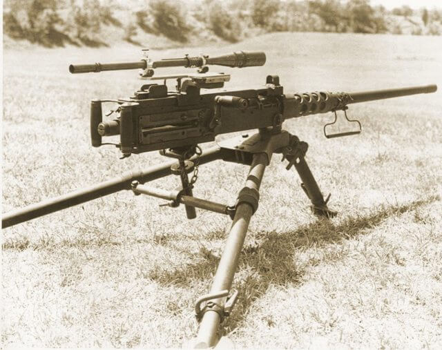 Hathcock Scope on a modified M2 Browning Heavy Machine Gun