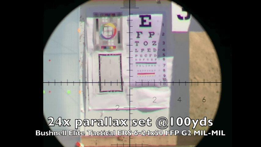 Clarity of Bushnell Elite Tactical ERS 6-24x50 FFP long range rifle scope