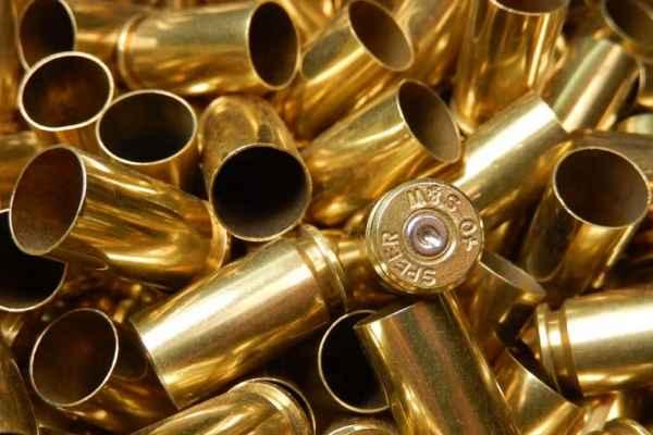 cleaned bullet brass casings